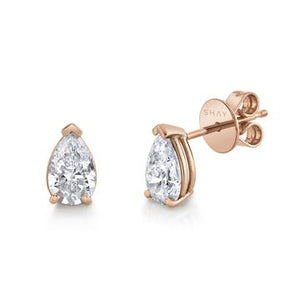 Medium Diamond Pear Studs - Millo Jewelry
