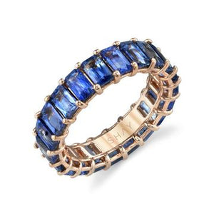 Blue Sapphire Eternity Band - Millo Jewelry
