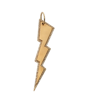 Large Lightning Bolt Charm