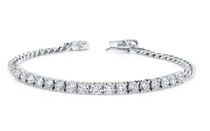 Plain Chain Link And Diamond Line Bracelet