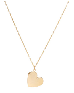 14K Heart Shaped Locket Necklace - Millo Jewelry