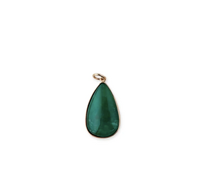 Malachite Teardrop Charm - Millo Jewelry