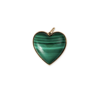 Malachite Heart Charm