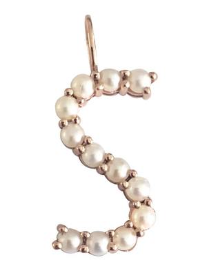 Large Pearl Initial Charm