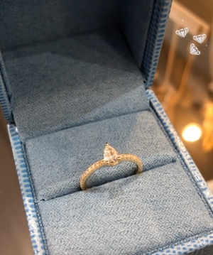 Me/You Pear Diamond Pave Ring - Millo Jewelry