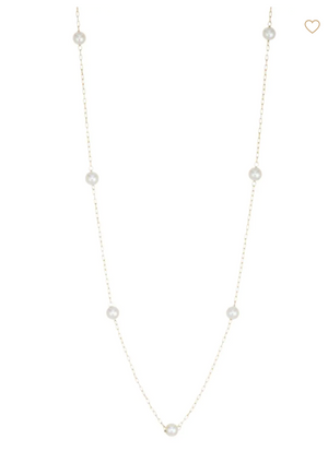 Floating Pearl Necklace - Millo Jewelry