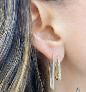 Safety Pin Earrings - Millo Jewelry