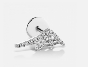 Diamond Web Threaded Stud - Millo Jewelry