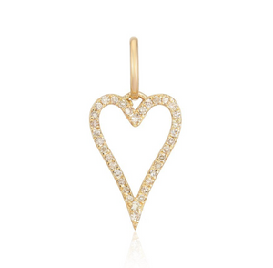 Large Pave Cutout Modern Heart - Millo Jewelry