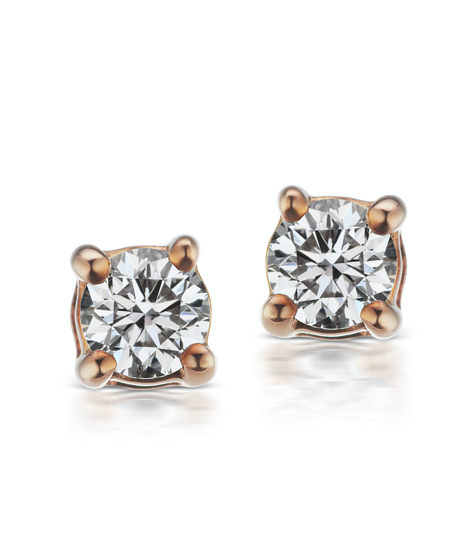 3mm Diamond Studs - Millo Jewelry