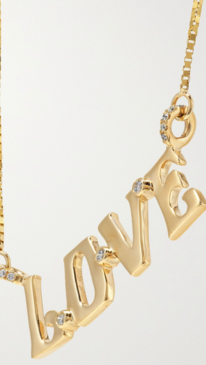 Love 14-karat gold diamond necklace - Millo Jewelry