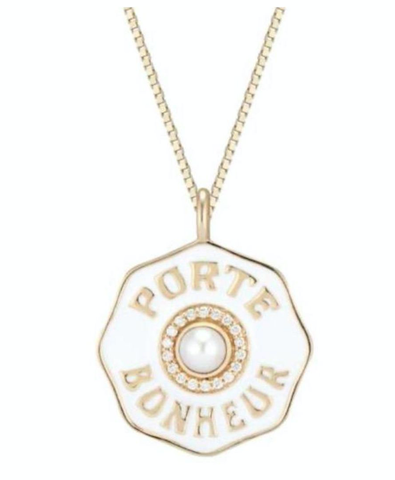 Mini PB Enamel Coin Necklace