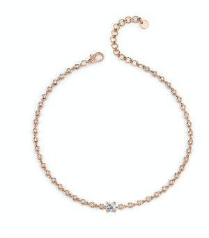 PRINCESS BEZEL DIAMOND CHOKER