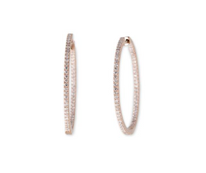 Single Inside Out Pave Diamond Hoop