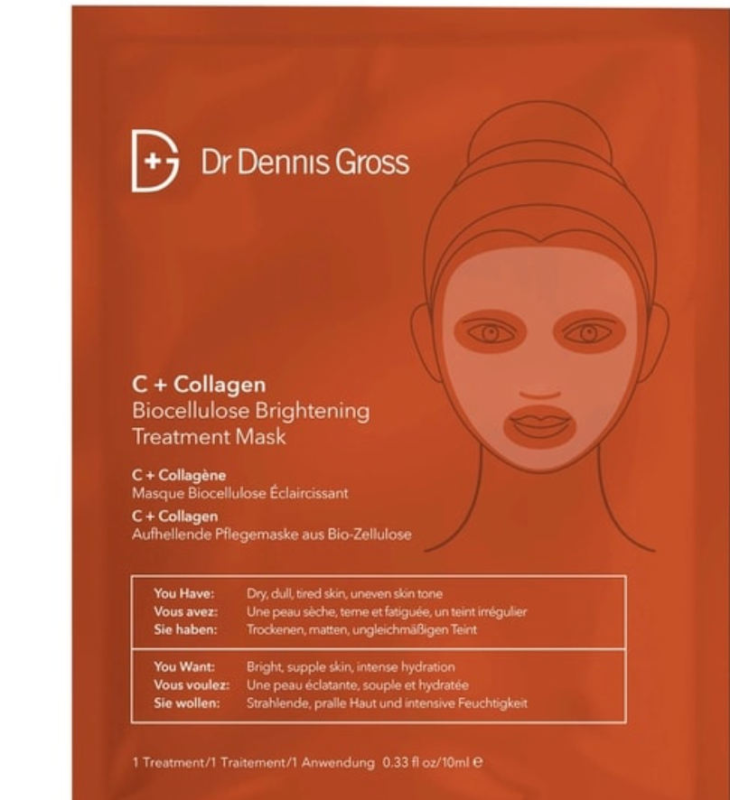 Dr.Dennis Gross C+Collagen Biocellulose Brightening Treatment Mask
