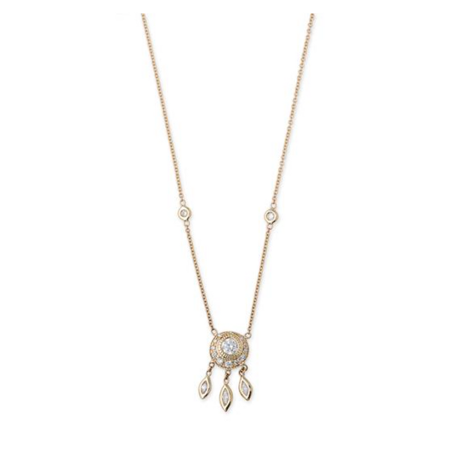 DREAM CATCHER MARQUISE DIAMOND SHAKER NECKLACE