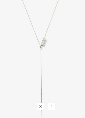 Sea of Beauty Collection. Three Pearl Lariat - Millo Jewelry