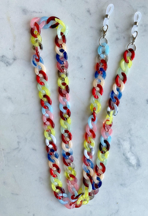 Acrylic Chunky Link Mask Chains - Millo Jewelry