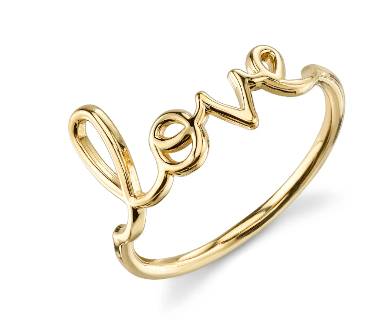 Gold Love Ring - Millo Jewelry