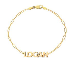 Cutout Name Paperclip Bracelet - Millo Jewelry