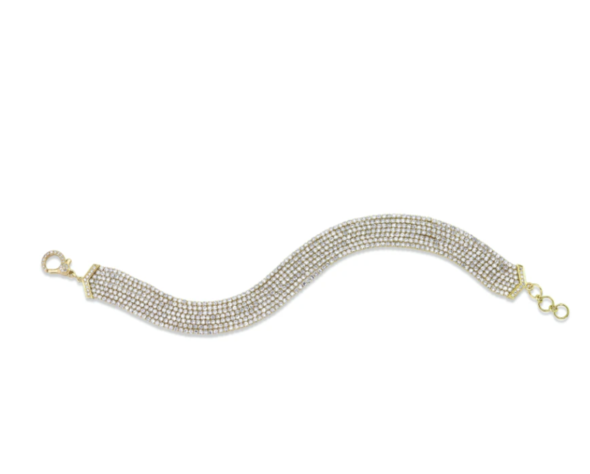 Diamond 7 Thread Stack Bracelet - Millo Jewelry
