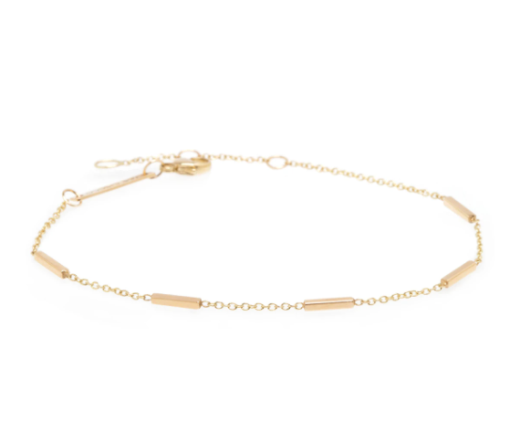 14K HORIZONTAL TINY BARS BRACELET - Millo Jewelry