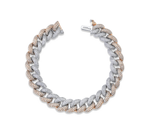 DIAMOND PAVE TWO-TONE ESSENTIAL LINK BRACELET - Millo Jewelry