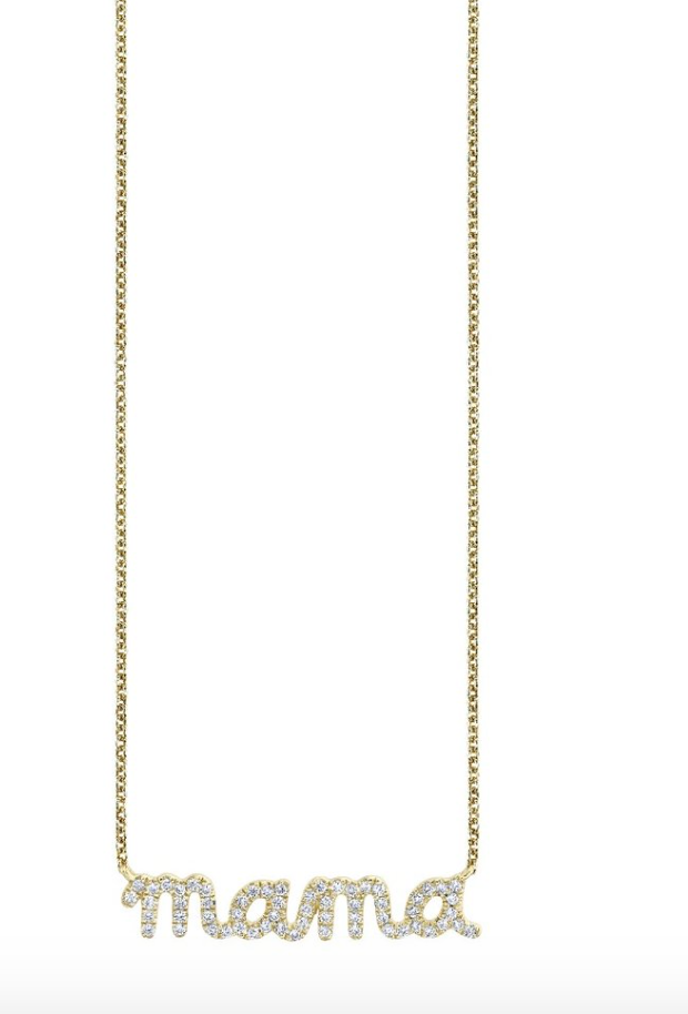 Gold & Diamond Mama Necklace - Millo Jewelry
