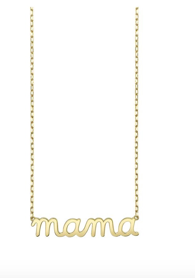 Pure Gold Mama Script Necklace - Millo Jewelry