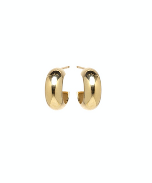 14K CHUBBY HUGGIE HOOPS - Millo Jewelry