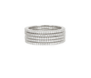 Classique Pave Bands Set - Millo Jewelry