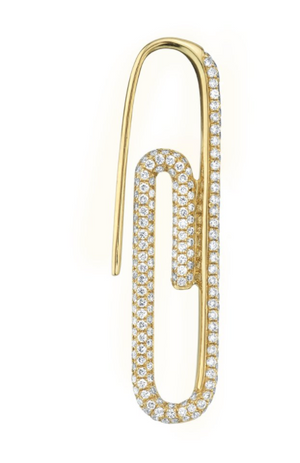 Diamond Paperclip Earring - Millo Jewelry