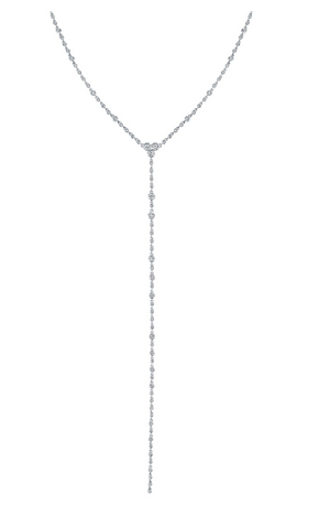 Diamond Station Y Necklace - Millo Jewelry