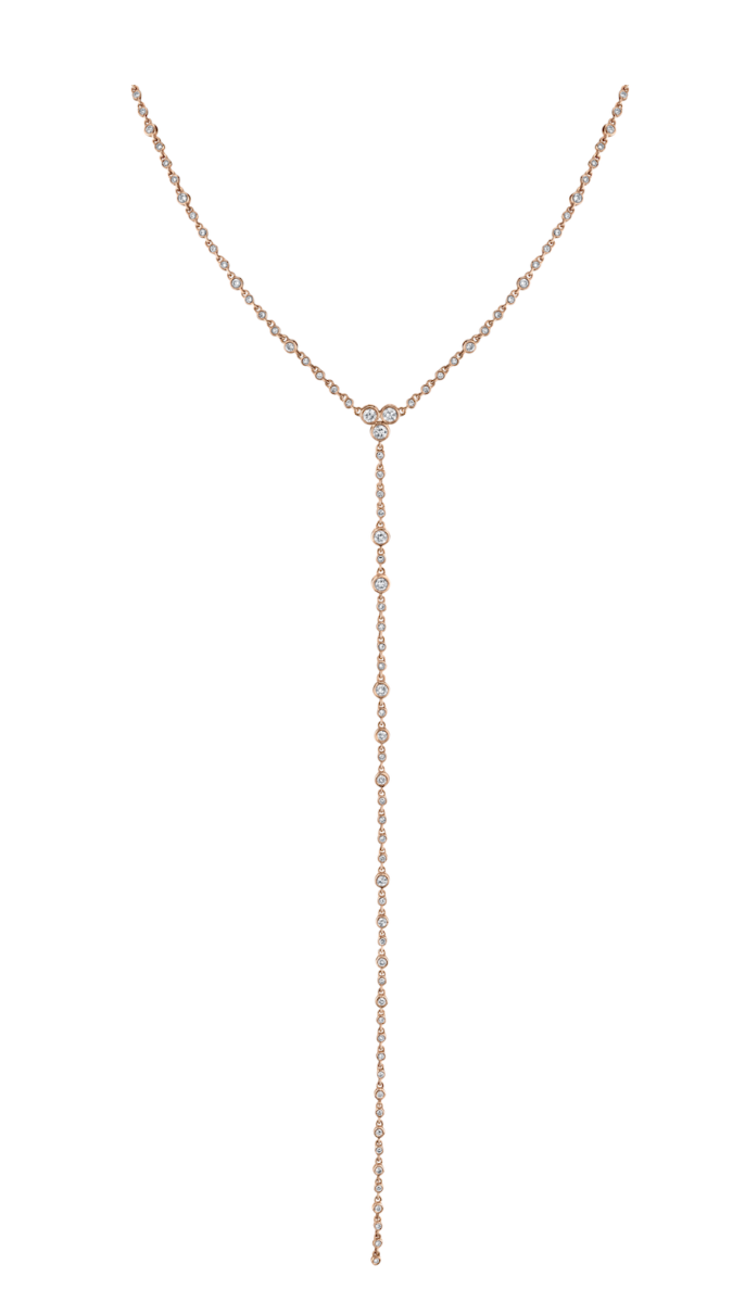 Diamond Station Y Necklace
