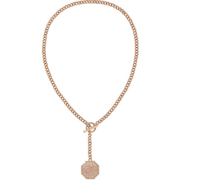 Octagon Y Link Lariat - Millo Jewelry