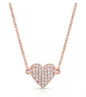 DIAMOND FLOATING HEART NECKLACE