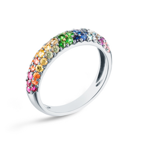 Rainbow Dome Ring