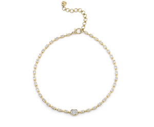 Illusion Baguette Diamond Linked Choker