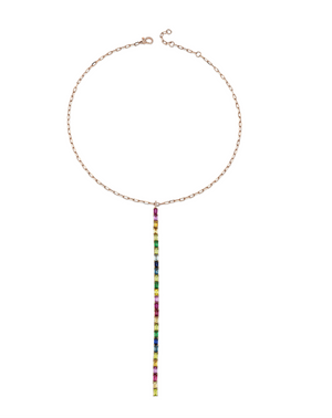 Rainbow Y Drop Necklace
