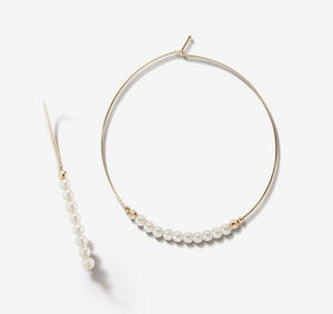 Large Pearl Hoop - Millo Jewelry
