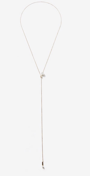 Single Pearl Lariat - Millo Jewelry