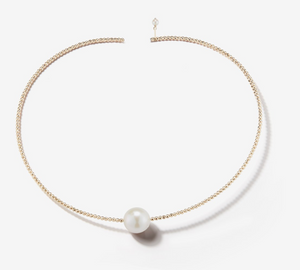Single Pearl Gold Collar - Millo Jewelry