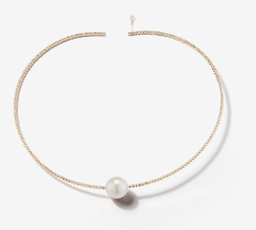 Single Pearl Gold Collar