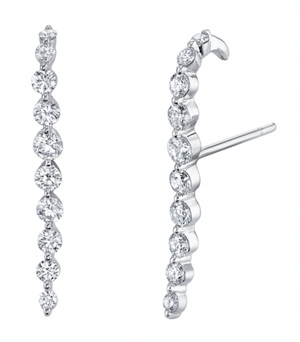 Medium Diamond Cascade Earring