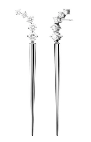 Aria Dagger Earrings (Partial Diamond)