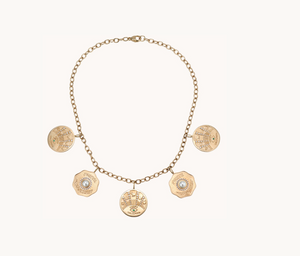 La Trouvaille 5 Coin Necklace