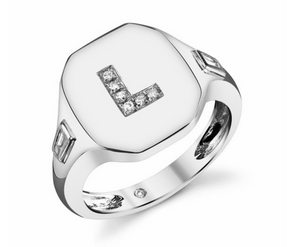 Initial Pinky Ring - Millo Jewelry