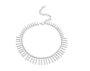 Triple Dot Dash Diamond Necklace - Millo Jewelry