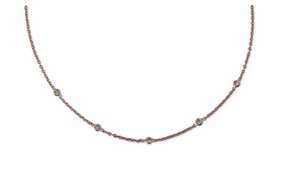 5 Diamond Spaced Out Choker - Millo Jewelry