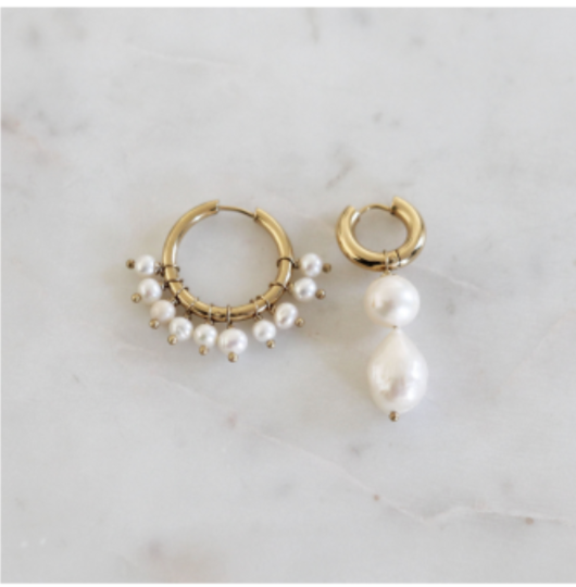 Mismatched Pearl Earrings BO-39
